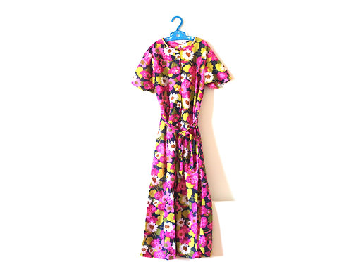 Vintage 1970s Floral Long Playsuit 6 Years