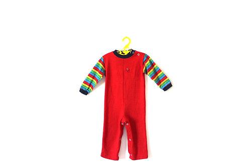 Vintage Red Rainbow Apple Romper Suit 12-18 Months