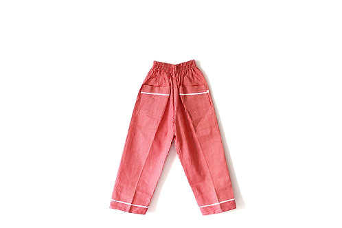 Vintage Red 1950's Dogtooth Trousers 4-5 Years