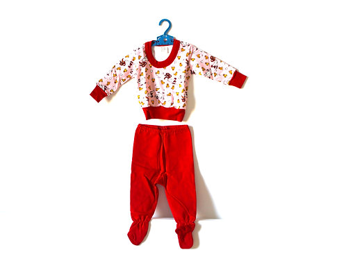 Vintage 1970's Chick and Hen Pj's 12 Months
