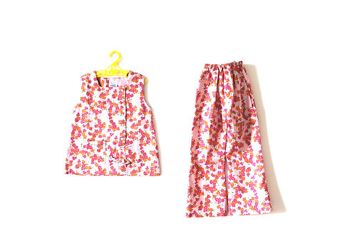 Vintage 1960's Pink Two Piece Spring Summer Twiggy Mod 4-5 Years