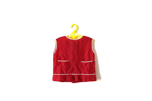 Vintage 1960's Polka Dot Red Blouse 2-3 Years