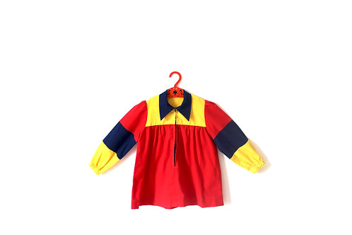 Vintage 1970's Blocked Colour Dress 4-5 Years