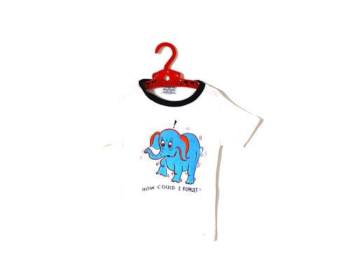Vintage Blue Elephant 1970's T-shirt Age 3