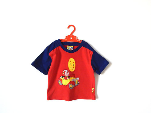 Vintage Noddy T-shirt Red and Blue 2-3 Years