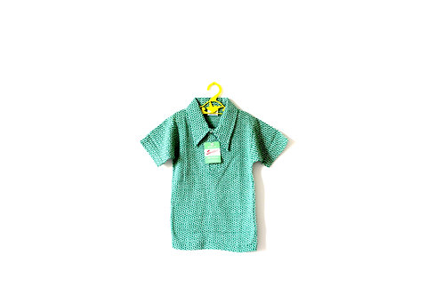 Vintage Green Mod Polo Circle T-shirt Top 6 Years