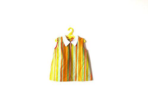 Vintage 1960's Striped Dress Pastel 2-3 Years