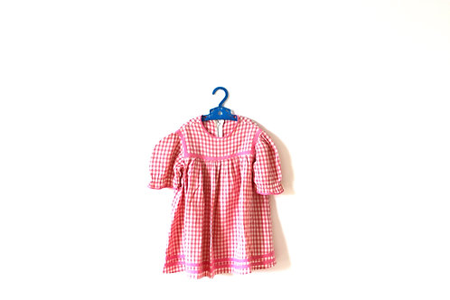 Vintage Pink Checked 1950's Dress Elephant 4 Years