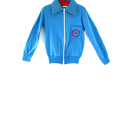 Vintage French Blue 1970's 4-5 Years Style Boys Cotton Lightweight Jacket