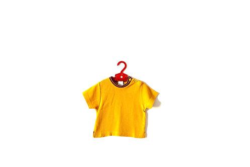 Vintage Yellow Mustard T-shirt Stripes 6-9 Months