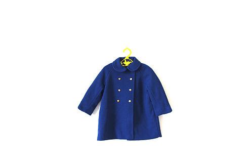 Vintage 1960's Blue Winter Peterpan Collar Jacket 3-4 Years