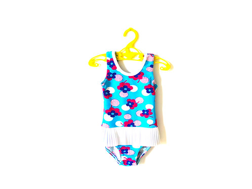 Vintage 1960's Floral Swimming Costume 12-18 Months
