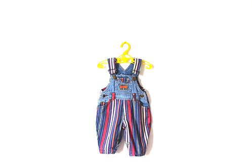 Vintage Ladybird Striped Denim Dungarees 3 Months