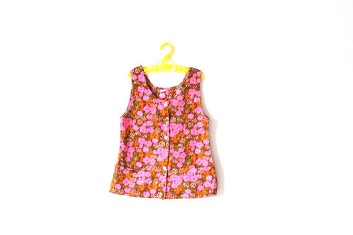 Vintage Pink Summer Blouse 1960's 5-6 Years
