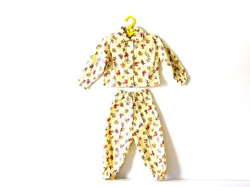 Vintage 1960's Pj's Yellow with Penguins 1-2 Years
