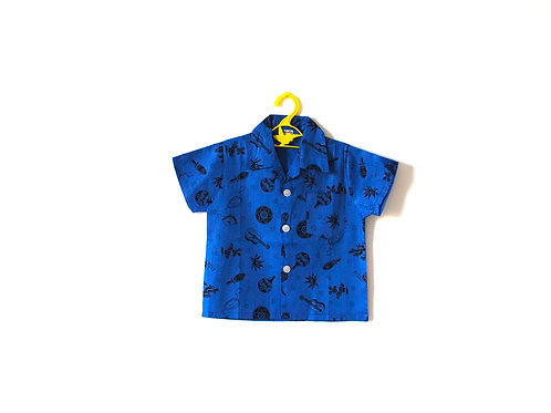 Vintage Novelty 1950's Blue Shirt 4-5 Years