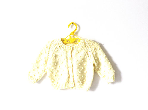 Vintage Yellow Pale Chick Popcorn Jumper 3-6 Months