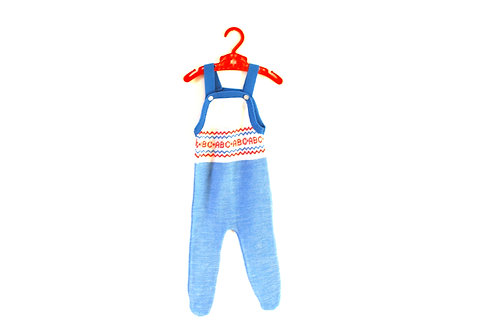 Vintage ABC Knitted Red Blue Romper 3-6 Months