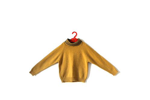 Vintage Boys Mustard Jumper Age 6-7 Years