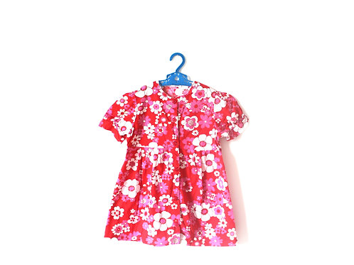 Vintage Pink Floral 1960's Summer Dress 5-6 Years