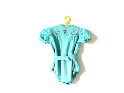 Vintage 1950's People Romper Suit 12-18 Months