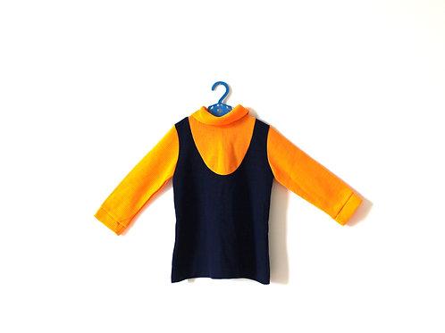 Vintage 1960's Orange Mod Dress 3-4 Years
