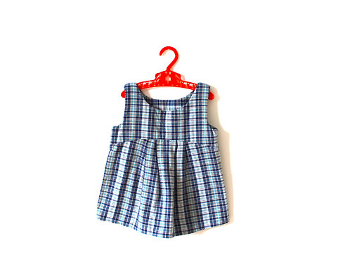 Vintage Blue 1960's Girls Summer Dress 12 Months