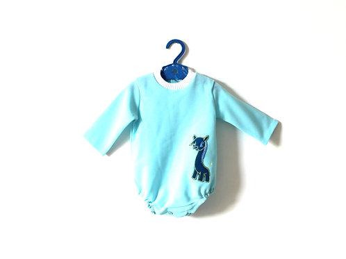 Vintage 1960's Romper Kitsch Donkey Motif Blue 12 Months