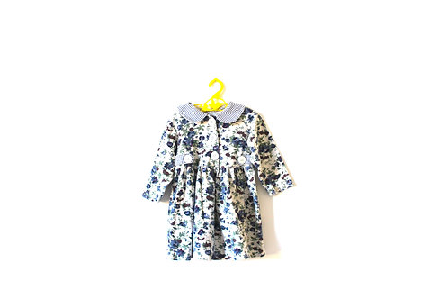 Vintage Floral Winter Dress with Peterpan Collar 4 Years