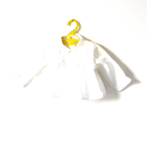 Vintage White French Baby Blouse Collar 3-6 Months