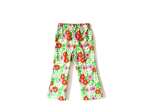 Vintage 1960's Floral Summer Trousers 4-5 Years