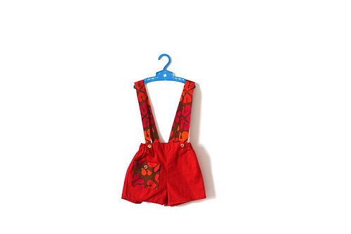 Vintage 1970's Shorts with Straps Childrens Romper 2-3 Years