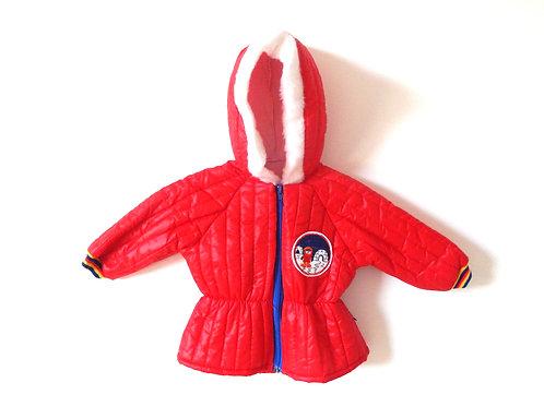Vintage Unisex Red Eskimo Rainbow Coat 1-2 Years