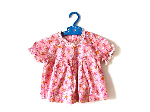 Vintage 1960's Pink Rabbit Doll Dress 12 Months