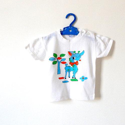 Vintage Cute Colourful Deer T-shirt 2 Years