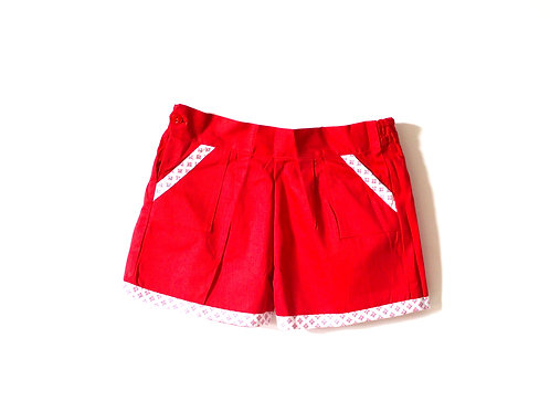 Vintage 1950's Red Retro Summer Shorts 5-6 Years