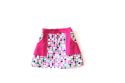 Vintage Pink Summer Daisy 1960's Girls Skirt 2-3 Years