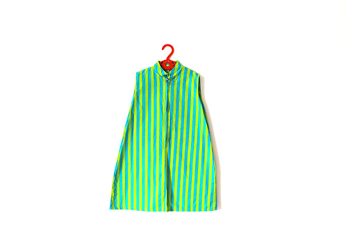 Vintage 1960's Green Blue Dress 5 Years