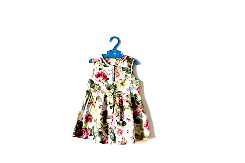 Vintage Girls Floral Dress 1980's 6-12 Months