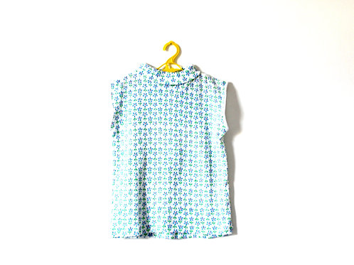 Vintage Spring Vest Top Blue Daisy 1960's 7 Years