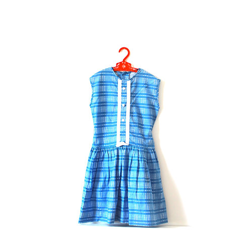 Vintage Blue Checked 1950's Summer Dress 5-6 Years