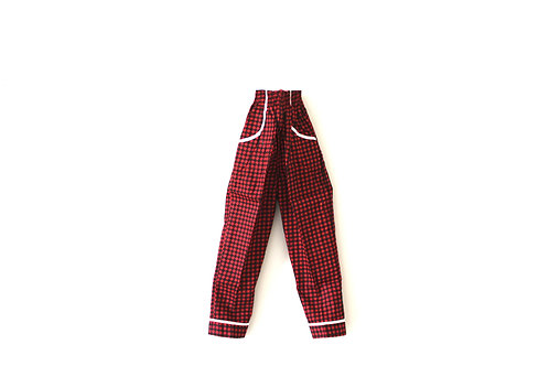 Vintage 1960's Red and Black Dogtooth Patterned Trousers 3-4 Years