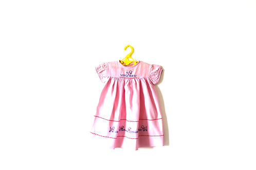 Vintage 1970's Pink Poodle Cotton Dress 2 Years