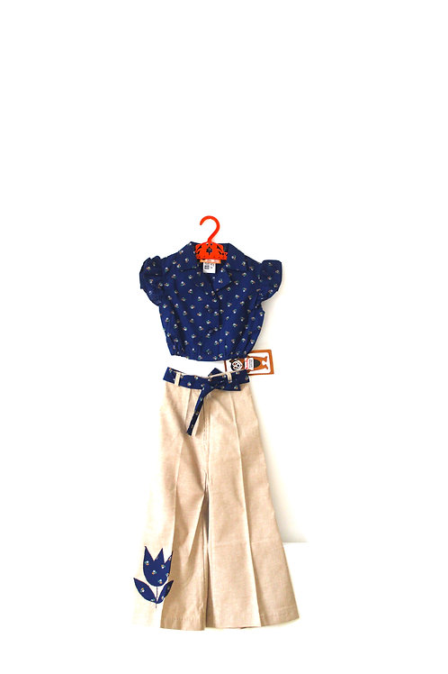 Vintage 1960's Two Piece Outfit Floral 4-5 Years