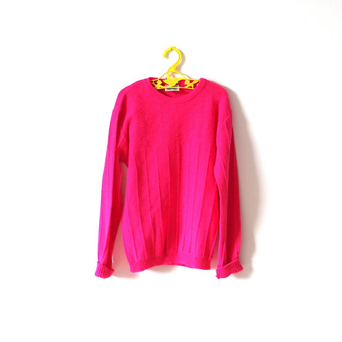 Vintage 1970's Roford Knit Bright Pink 6 Years