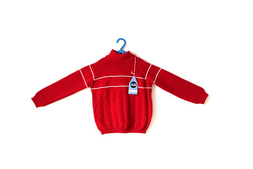 Vintage Red and White Jumper 1970's 3-4 Years
