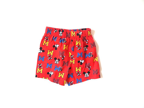 Vintage Mickey Mouse Cotton Shorts 2-3 Years