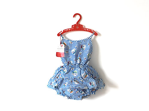 Vintage 1960's Ladybird Parisian Sunsuit 1-2 Years