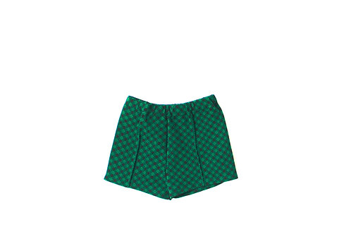 Vintage Checked Green and Black Shorts 3-6 Months