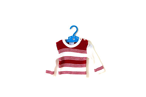 Vintage 1970's Mothercare Striped Knitted Top 3-6 Months